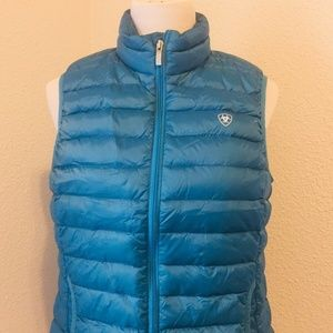 ARIAT Lightweight Ideal Down Large Zip Front Vest